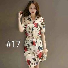Trendy x 2 ~ Shirt Dress + Romantic Floral Dresses Cute Dresses, Beautiful Dresses, Casual Dresses, Casual Outfits, Short Sleeve Dresses, Floral Dresses, I Dress, Dress Outfits, Fashion Dresses
