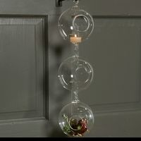 125mm Round Glass Candle Holder Globes - Double Hook - Set of 4 $60.00