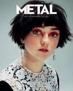 Maisie Williams on Metal Magazine Cover Charli Xcx, High Fashion Makeup, Human Reference, Metal Magazine, No Rain, Face Characters, Maisie Williams, Low Key, Sophie Turner
