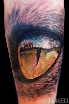 This is absolutely incredible. Reflection in the eye realism tattoo.