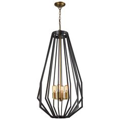 Fluxx Tall Chandelier in Bronze