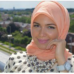 Pretty peach hijab