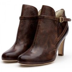 Rupert Sanderson Brown Calf Leather Ankle Boots - Polyvore