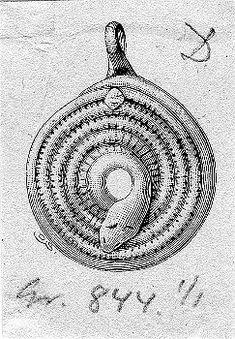 Viking age / Silver snake pendant /Uppland