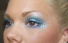 Mermaid makeup!!! This is so pretty! - change it to white for angel makeup