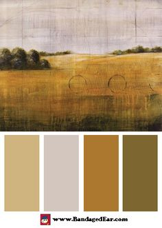 Natural color palette inspired by: Earth Meets Sky I, Art Print by Cheryl Martin