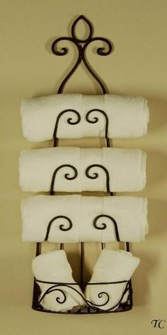 "I have been looking for just the right wine rack to turn ""guest towel holder"""