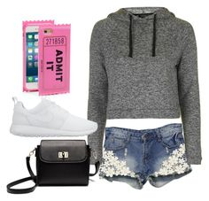 """""""Movie night"""" by maryoneal on Polyvore featuring Kate Spade, Topshop and NIKE"""