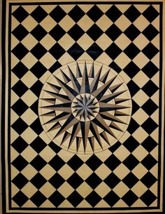 Custom Made Starburst Floorcloth