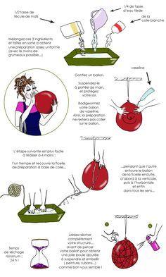 En dessin : fabriquez une suspension déco faite d'une simple ficelle