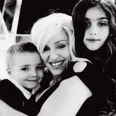 Madonna with her children, Rocco & Lourdes. (2005 outtake, Versace)