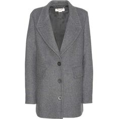 Stella McCartney Wool-Blend Coat (94.120 RUB) ❤ liked on Polyvore featuring outerwear, coats, stella mccartney, grey, grey coat, stella mccartney coat, gray coat and wool-blend coat