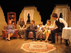 Blackbox Theatre Indiana Wesleyan University - set of Lost in Yonkers