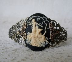 Goddess Diana Cuff Bracelet wiccan jewelry pagan by Sheekydoodle, $28.00