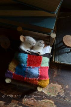   Sleeping Mice, Felting Dreams on Etsy.