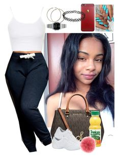 Designer Clothes, Shoes & Bags for Women Teen Girl Outfits, Swag Outfits, Outfits For Teens, Stylish Outfits, Cool Outfits, Baddie Hairstyles, Cute Hairstyles, Joggers Outfit, Hairstyles For School