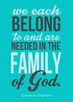 Visiting Teaching Message for January 2016. Free printable download with quote by Carole M. Stephens regarding the Proclamation on the Family. #overstuffedlife