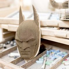 Batman cardboard mask on the wall 3D Puzzle DIY Kit Paper