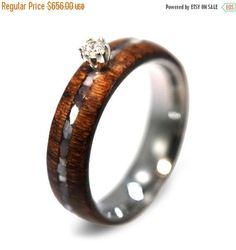 Holiday Sale 10% Off ON SALEDiamond Ring Wood by jewelrybyjohan