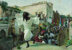 """Josep Tapiró Baró (1836 - 1913). """"Feast of the Aissawa, circa 1885"""". Private collection, Reus"""