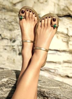 Cute Pedicures, Female Feet, Chanel Makeup, Summer Makeup, Summer 2016, Sandals, Pretty, Top, Polyvore