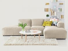 Ecksofas von Fashion For Home Online Shop Canapé Design, Interior Design, Sofa Hudson, Interior Room Decoration, Home Decor, Home And Living, Living Room, Style Loft, Dream Furniture