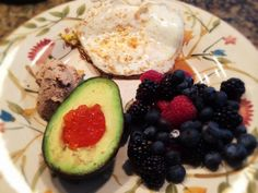Turkey and Chicken Liver Pate With Black Truffles, Eggs, Berries, And Avocado With Salmon Roe: 1/20/14