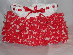 Baby skirt ruffle in Red Heart Boutique Sassy Red Dot
