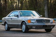 1986 Mercedes 560SEC — The W126 series (1979-1991) represents the last of the handmade Mercedes models and the SEC is considered by some to be the most beautiful modern Mercedes coupe. This example at eBay shows about 15,000 miles and is priced at $39,950.00