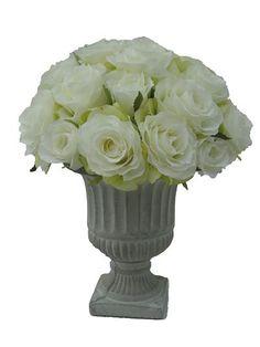 413 best sia flowers silkpetal images on pinterest art beautiful sia artificial roses ina grey cement urn silkpetal mightylinksfo