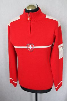 Ladies SWISS Olympic Team 2006 Jacket Pullover Jumper - Size L #Swiss #Pullover