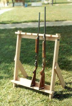 outdoor gun rack plans - Google Search   shop stuff ...