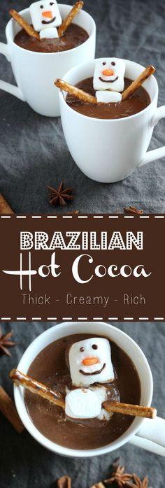 Creamy, Trick, Rich and totally irresistible Brazilian Hot Cocoa | gardeninthekitchen.com