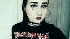 Modern Gothic makeup look. Corpse paint inspired
