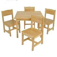 KidKraft Farmhouse Table W/ 4 Chair Kids Wooden Set New