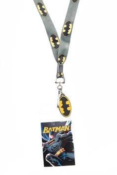 DC COMICS BATMAN  LANYARD KEYCHAIN CHARM WATERPROOF HORIZ//VER REGULAR BATMAN