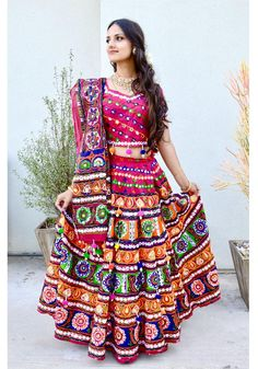 Gopi Skirt Outfits or Lehenga are the most popular Indian wear or Indian Dress in Indian Fashion. Great for Indian wedding or Party or Dancing or Temple Kirtana. Also known as Half Saree or Lehenga Saree or Lehenga Choli or Garba skirts Indian Dresses, Indian Outfits, Lehenga Saree, Lehenga Skirt, Traditional Fashion, Half Saree, Spring Green, Jaipur, Skirt Outfits