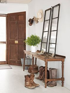 Gorgeous fresh rustic entry