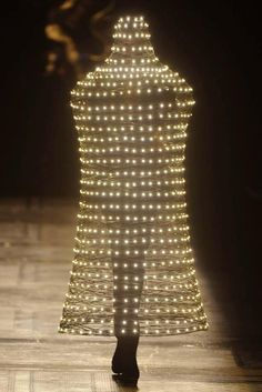 Lamp?  Human Holiday Bell with lights? Aha, that's it.....City of Lights...Paris!  What do I win for guessing the answer?