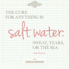 Salt + water