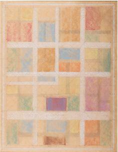 "Twentieth Century British Art by Sir Thomas Monnington: "" Design for Students' Union, University of London, circa 1969 "" Union University, Students' Union, Abstract Photography, Abstract Art, British, Pencil, Pastel, London, Modern"