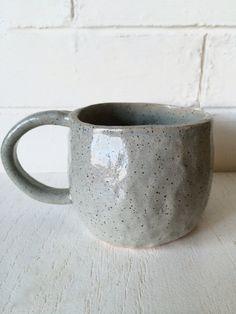 Speckled Pinch Pot Mug by MaraStoneware on Etsy