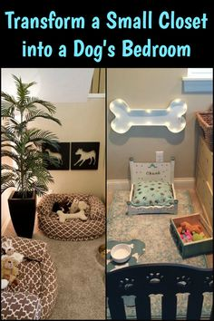 Give Your Furry Friends Their Own Space by Turning a Small Closet into a Dog Bedroom!