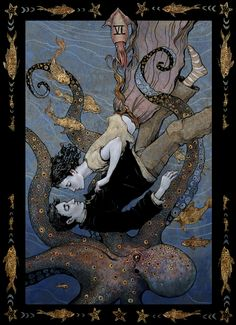 tarot, the lovers by bluefooted.deviantart.com