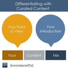 Content curation – 3 ways financial professionals are differentiating > http://blog.investmentpal.com/748
