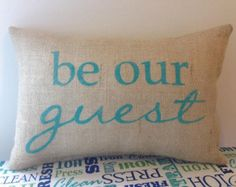 be our guest pillow on Etsy, a global handmade and vintage marketplace.