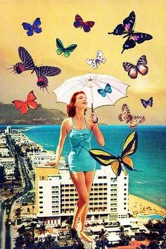 // L'Art du Collage / Petaloudes by Eugenia Loli