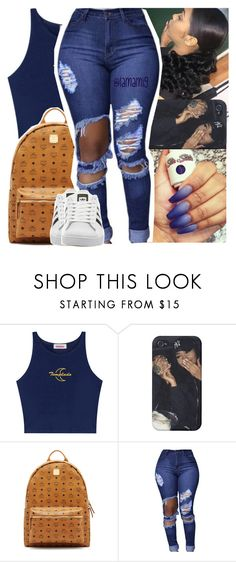 """3:36pm"" by lamamig ❤ liked on Polyvore featuring MCM and adidas"