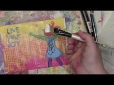 Live Your Joy Stenciled Envelope with Carolyn Dube stencil by StencilGirl
