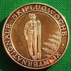 Germany Medal 19.9 gr 35 mm Silver 1000 er 11 Internationale Skiflugwoche 1976